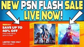 NEW PSN FLASH SALE LIVE RIGHT NOW - GREAT NEW PS4 GAME DEALS!