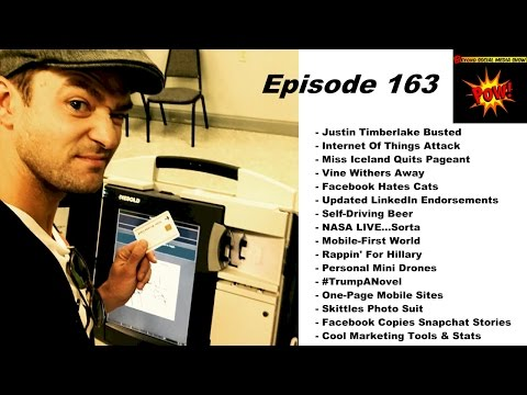 Justin Timberlake Busted & Facebook Hates Cats - Beyond Social Media Show #163