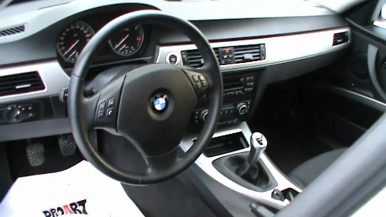 2008 bmw 320d touring m optik full review start up engine for Interieur cuir bmw e90