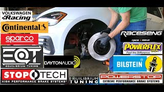 homepage tile video photo for 2018 VW GTI SE Ep.343: Installing StopTech Slotted Rotors on PP Brakes