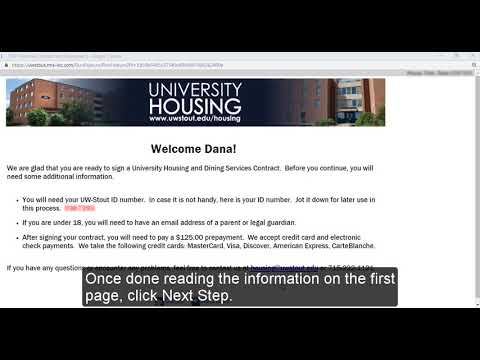 Housing Contract | University of Wisconsin - Stout