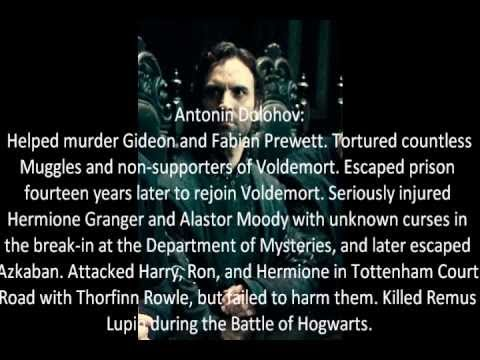Harry Potter: The Death Eaters (Main Characters List)