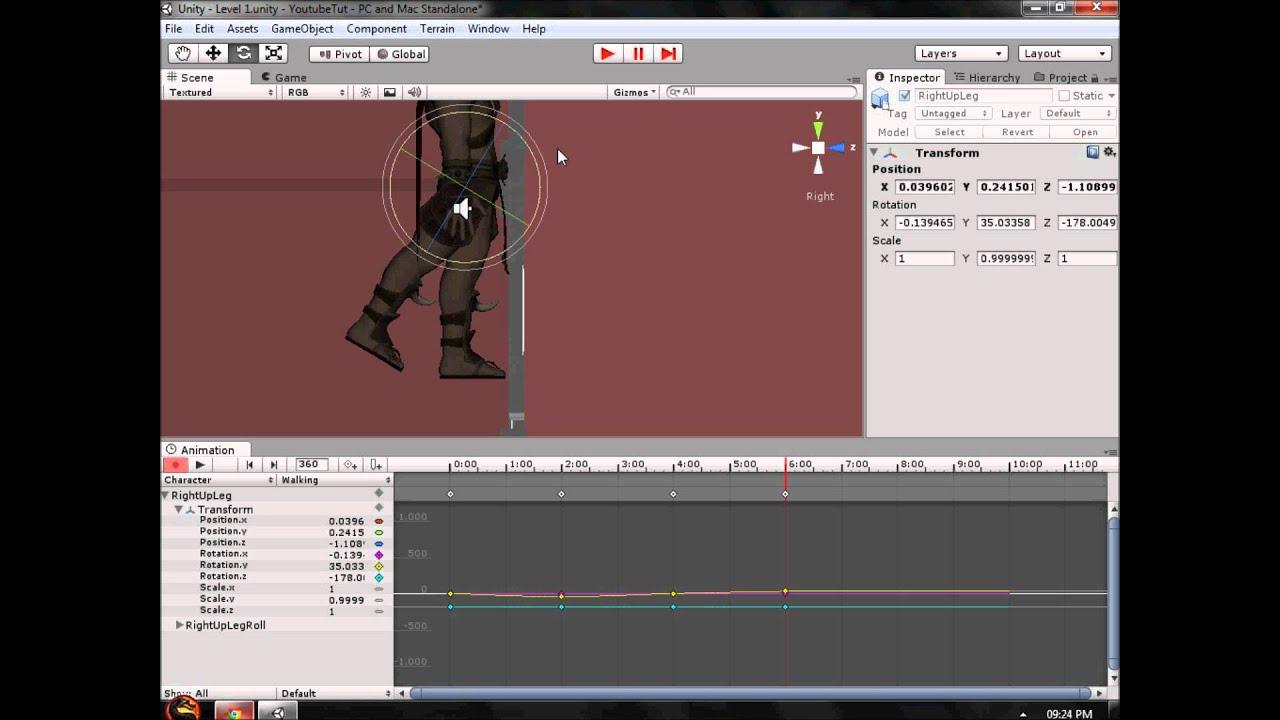 Unity 3D Tutorial Part 15: Basic Animation