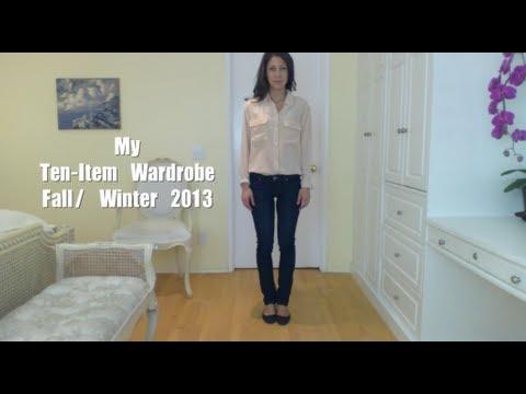 My Ten-Item Wardrobe Fall/ Winter 2013