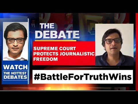 Supreme Court Protects Journalistic Freedom | The Debate With Arnab Goswami