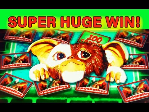 GREMLINS SLOT - **SUPER HUGE WIN** - TOP PROGRESSIVE WIN! - Slot Machine Bonus - 동영상