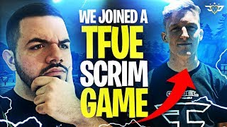 WE JOINED A TFUE SCRIM GAME?! WHAT ARE THE ODDS?! (Fortnite: Battle Royale)