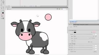 Making Moo - Speed Drawing a JMKit Cute Vector Cow