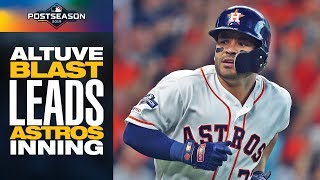José Altuve's crushed 2-run shot leads BIG Astros inning in ALDS Game 1 | Postseason Highlights