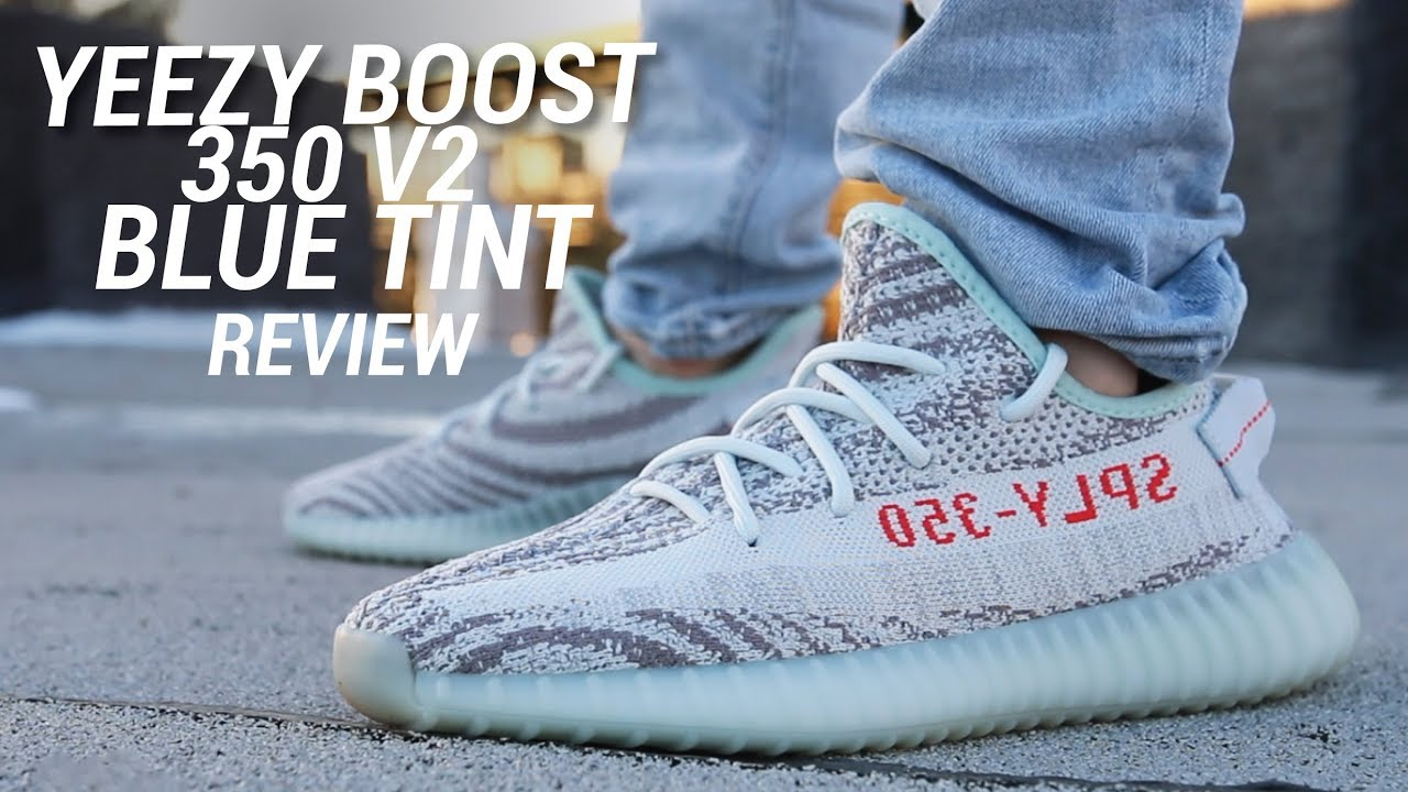 7b9f34700 ADIDAS YEEZY 350 V2 BLUE TINT REVIEW - YouTube