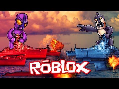 Roblox | RED VS BLUE BATTLESHIPS - Naval Battles in Roblox! (Roblox Adventures)