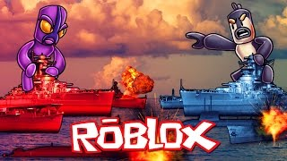 Roblox | RED VS BLUE BATTLESHIPS - Naval Battles in Roblox! (Roblox Adventures)