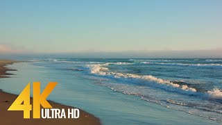 Evening Ocean Waves - [4K/60FPS] Relaxation Video - Ocean Footage with Waves Sounds