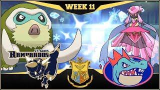 FREEZE DRY MAMOSWINE! St. Louis Rampardos vs Florida Gators  | APA Week 11 | Pokemon USUM