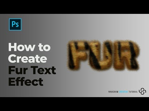 How to Create Fur Text Effect | Photoshop Tutorial thumbnail