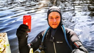 Found Working IPhone 11 in the River While Scuba Diving!! (Returned to the surprised Owner)