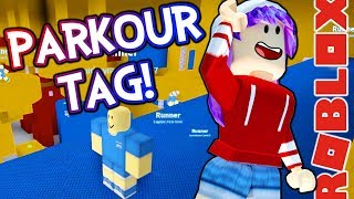 PARKOUR TAG IN ROBLOX! | RADIOJH GAMES & GAMER CHAD