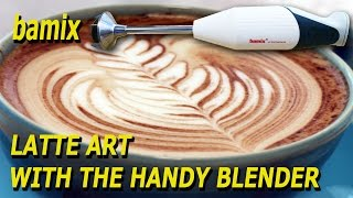 LatteArt with the handheld blender Bamix