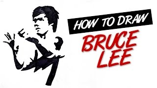 How to draw Bruce Lee stencil