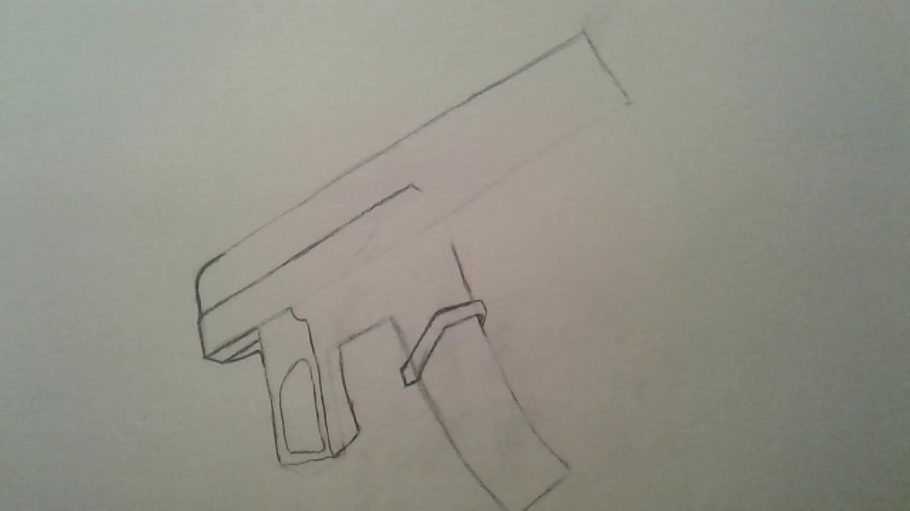 How To Draw Fortnite Guns Smg Youtube