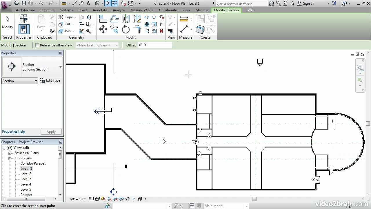 Tutorial Revit Architecture 2013 - Splitting a Section ...