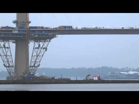 Building Queensferry Crossing Firth Of Forth Scotland
