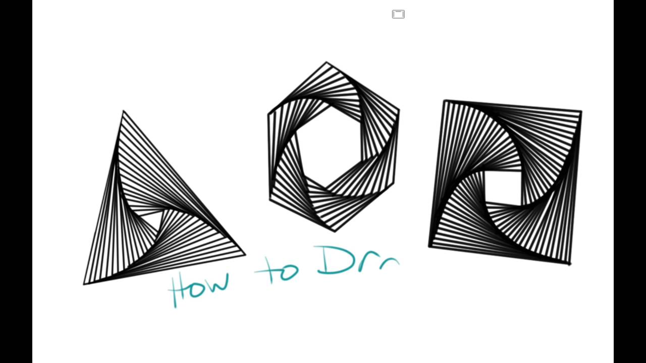 how to draw geometric whirl doodles youtube