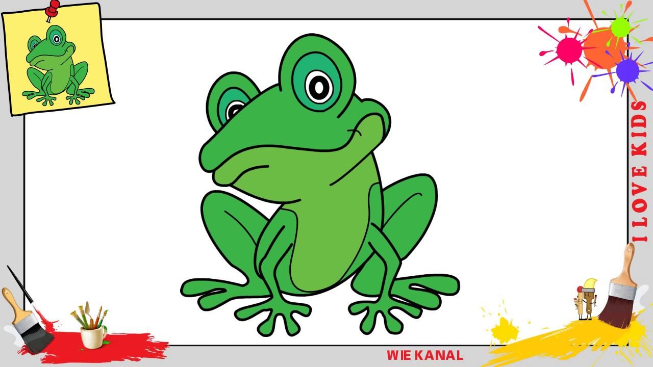 Frosch zeichnen schritt für schritt für anfänger & kinder ...