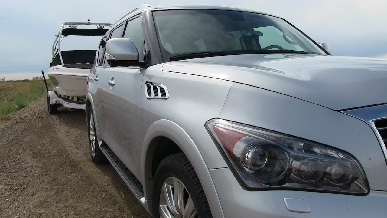 2012 Infiniti QX56 put to the 0-60 MPH Towing Test