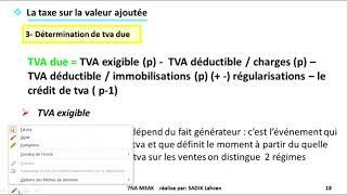 #EP 3 fiscalité: la taxe sur la valeur ajoutée  2/4