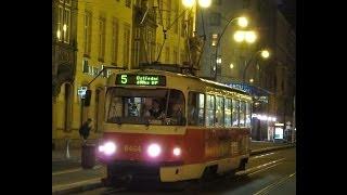 Czech Republic: Tatra T3 trams in Prague (near Jindrisska and Masarykovo nadrazi tram stops)