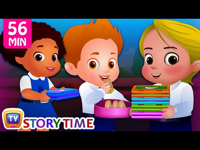 The Food Project at School plus Many Bedtime Stories for Kids in English | ChuChuTV Storytime