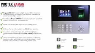 Protek Zaman Propass U 990 - C ID Parmak İzi Okuyucu Video