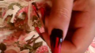 GOTHIC INSPIRED NAIL ART DESIGN BLACK RED NAIL POLISH