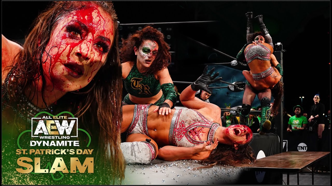 GRAPHIC/VIOLENT: Unsanctioned Lights Out Anything Goes Match   AEW Dynamite, St. Patrick's Day Slam