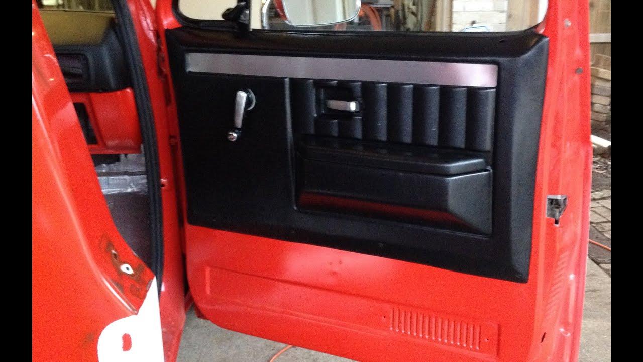 part 1 chevy c10 door panels install new aftermarket door panels 73 87 [ 1280 x 720 Pixel ]
