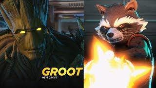 Marvel Ultimate Alliance 3: The Black Order - Rocket & Groot Gameplay (HD) [1080p60FPS]