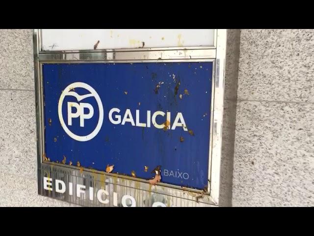 Ataque a la sede del PPdeG en Santiago