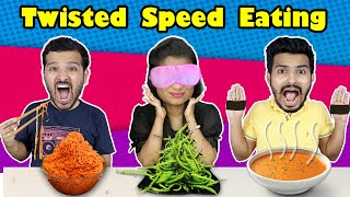 Twisted Speed Eating Challenge | Food Challenge | Hungry Birds