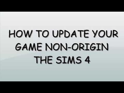 The sims 4 How to get latest update non-Origin