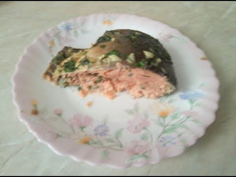 Горбуша, запеченная в духовке