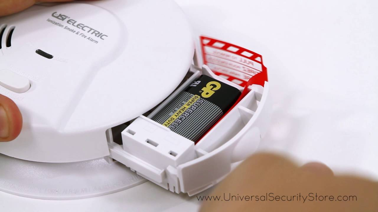 USI Hardwired Ionization Smoke and Fire Alarm with Battery Backup ...