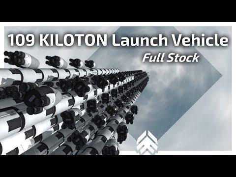 KSP - 109 KILOTON Launch Vehicle!   Full stock   No auto-struts   No part-clipping
