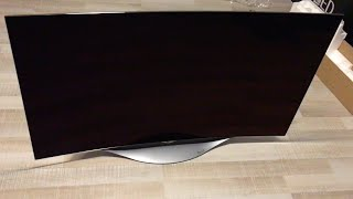 LG Curved Smart OLED TV 55EC9300 Unboxing and Setup