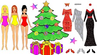 PAPER DOLLS COSTUMES DRESSES FOR CHRISTMAS ACCESSORIES PAPER CRAFTS