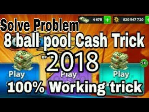 8 ball Pool cash trick 2018 [solve problem] 3.12.4