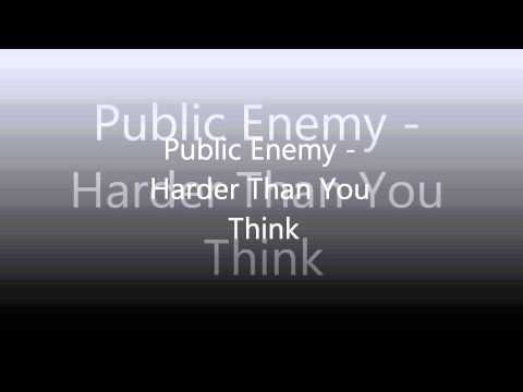 Public Enemy  Harder Than You Think HQ1080pClean VersionLyrics In Description