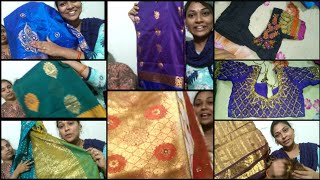 Traditional pattu,fancy sarees collection,maggam,computer work blouse.