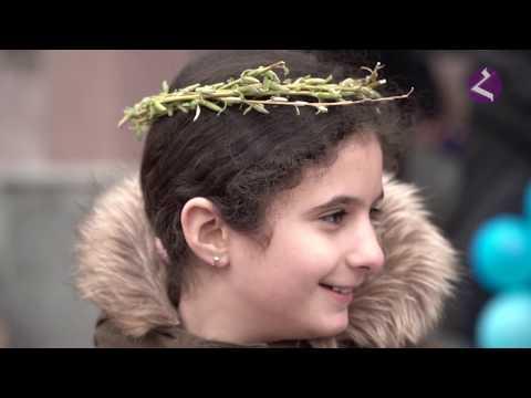 Вербное воскресенье в армянской церкви (Краснодар)