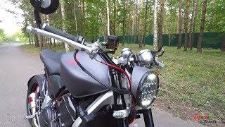 Мотоцикл Retro Fighter на Трухановом острове. Киев - 13.08.2017